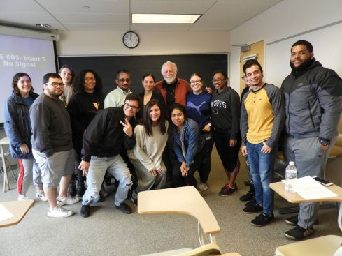Eugene with MU Humanities class students (Latino Issues of Identity)